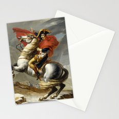 Napoleon Crossing the Alps by Jacques Louis David Stationery Cards