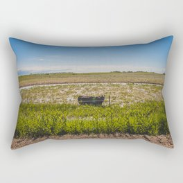 Hungry Cow, North Dakota Rectangular Pillow