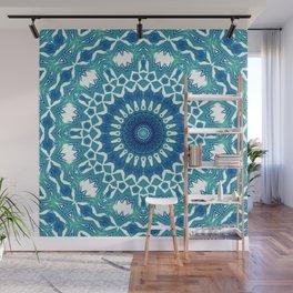 Sea Green Mandala Wall Mural