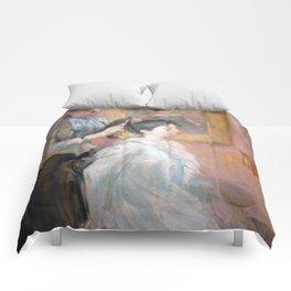 La Coiffure by Berthe Morisot Comforters