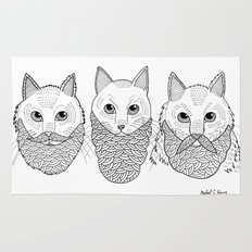 Cats With Beards Rug