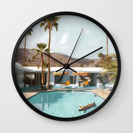 Pig Poolside Party Wall Clock
