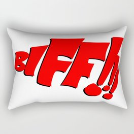 1966 Bat TV Show BIFF!!! Art Rectangular Pillow