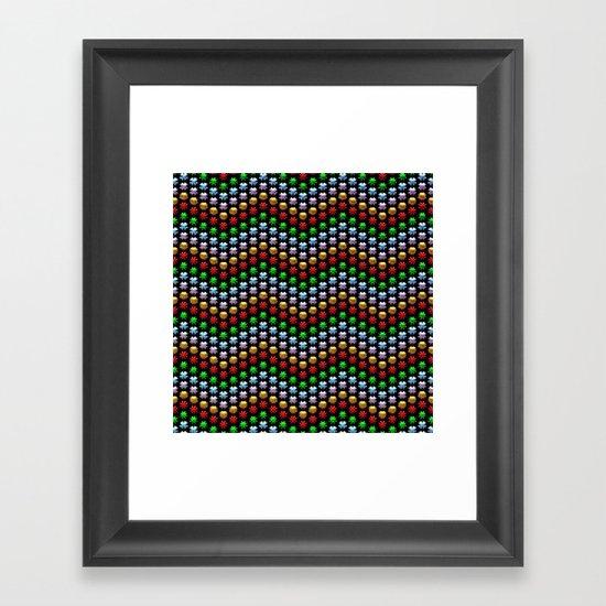 Beaded Chevrons Framed Art Print
