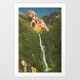 Milky Falls Art Print