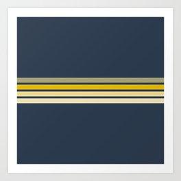 Racing Retro Stripes Art Print