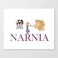 narnia Canvas Prints featuring Narnia by Little Moon Dance