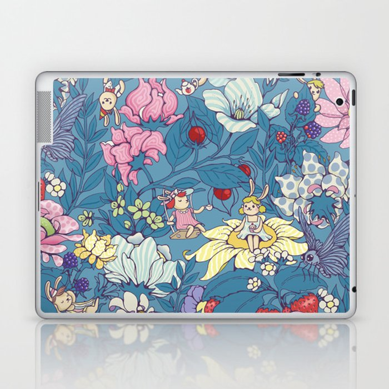 Garden party - lady gray version Laptop & iPad Skin
