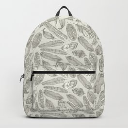 scattered feathers natural Backpack
