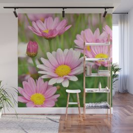 Daisy pink 090 Wall Mural