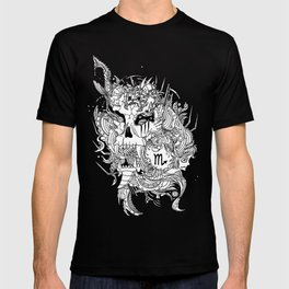 Scorpio Skull Zodiac Sign For October and November Birth Day Gift T-shirt