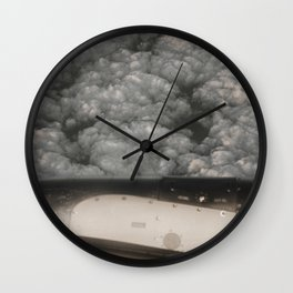 Metal and clouds Wall Clock