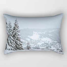 French Alps in winter Rectangular Pillow