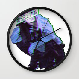 COMFORTABLE - SAD JAPANESE ANIME AESTHETIC Wall Clock