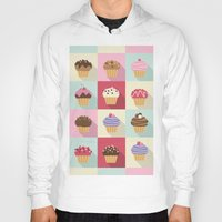 cupcakes Hoodies featuring Cupcakes by Rosa Puchalt