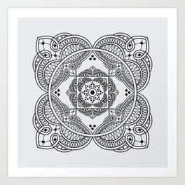 elegant meditation mandala Art Print