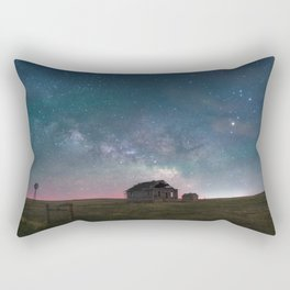 Lonely Barn Under a Starlit Sky Rectangular Pillow