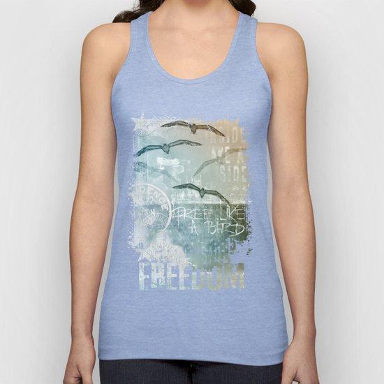 Free Like A Bird Seagull Mixed Media Art by lebensart