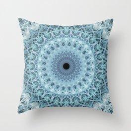 Mandala in cold winter tones Throw Pillow