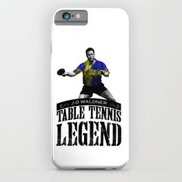 Jan Ove Waldner | Table Tennis Legend iPhone Case