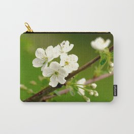 Cherry Tree Branch With White Flowers #decor #society6 Carry-All Pouch