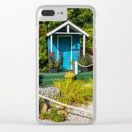 Summer Beach House Clear iPhone Case