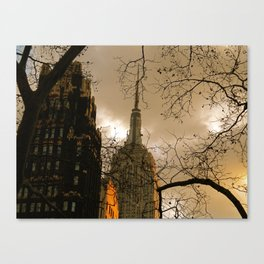 Empire State From Bryant Park Canvas Print