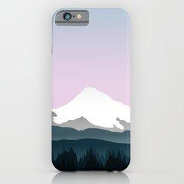 Mount Hood Forest - Pink Haze iPhone Case
