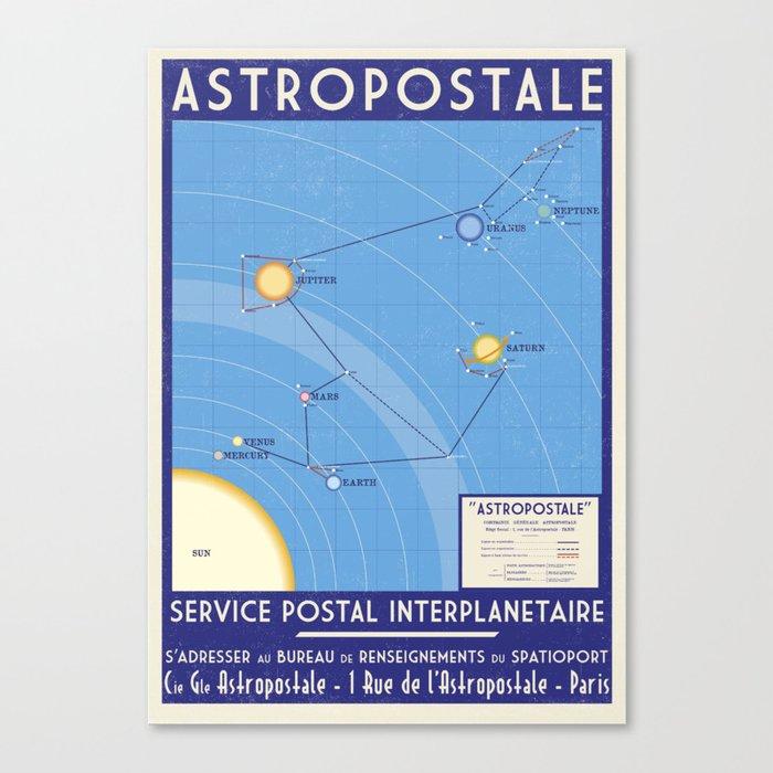ASTROPOSTALE - Solar System Map Canvas Print