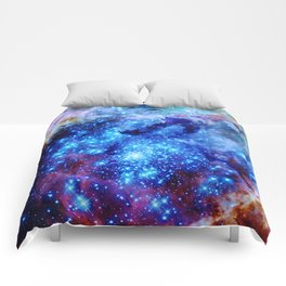 galaxy blue sparkle Comforters