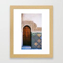 Door at La Alhambra 1 Framed Art Print
