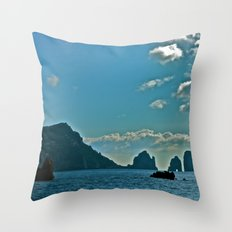 The Waters of the Amalfi Coast: Italy Throw Pillow