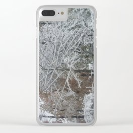 My Yard, In Winter by Sandra Molaen Clear iPhone Case