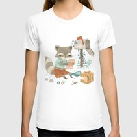 raccoon T-shirts featuring Raccoon Post by Teagan White