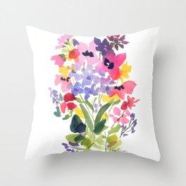 Petite Wildflowers Throw Pillow