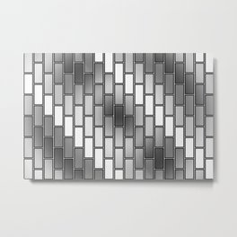 BRICK WALL #2 (Grays & White) Metal Print