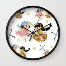 Navratri Pattern Wall Clock