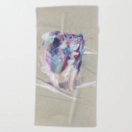 Purple rat Beach Towel