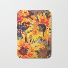 Golden Sunflower Garden Bath Mat