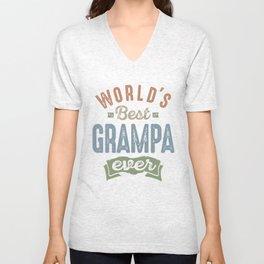 World's Best Grampa Unisex V-Neck
