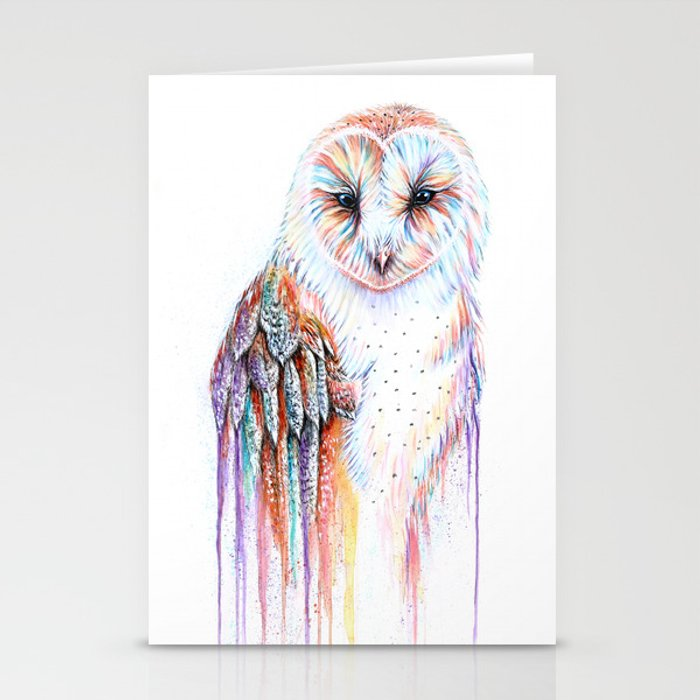 Colorful Owl Stationery Cards