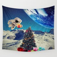 christmas tree Wall Tapestries featuring Christmas Tree by Cs025