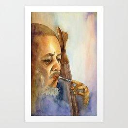 Musician Series I:  Charles Mingus Art Print