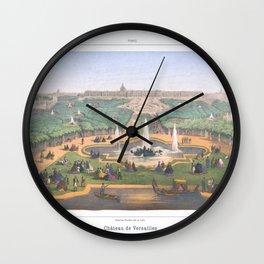 Paris art print Paris Decor office decoration vintage decor VERSAILLES CHATEAU of Paris Wall Clock