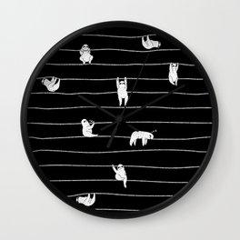 Sloth Stripe Wall Clock