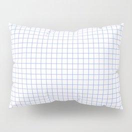 Blue Light Grid Pillow Sham
