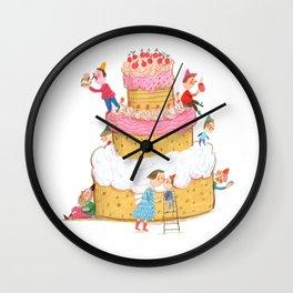 Yummy Cookie Wedding Cake Wall Clock