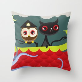 The Aleister & the Pussycat Throw Pillow