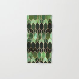 Stained Glass 5 - Forest Green Hand & Bath Towel