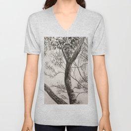 Black and White Tree Unisex V-Neck